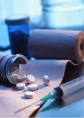 Medicine & bandage_Word clip art